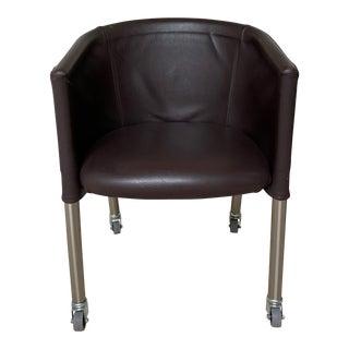 Flexform Mixer Brown Chair For Sale