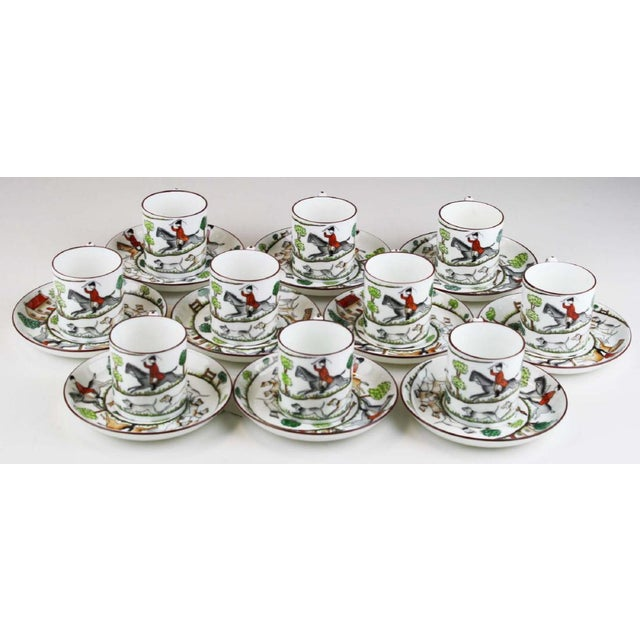 English Traditional English Staffordshire Bone China Demitasse & Saucers - Set of 10 For Sale - Image 3 of 6