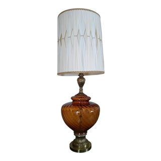 EF & EF Industries Antique Amber Glass Lamp
