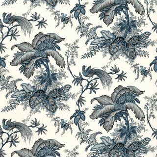 Schumacher Coconut Grove Wallpaper in Lapis For Sale