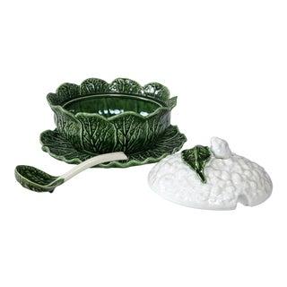 Portuguese Cauliflower Tureen 4 Piece Set For Sale