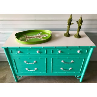 Vintage Restored Thomasville Faux Bamboo Dresser Preview