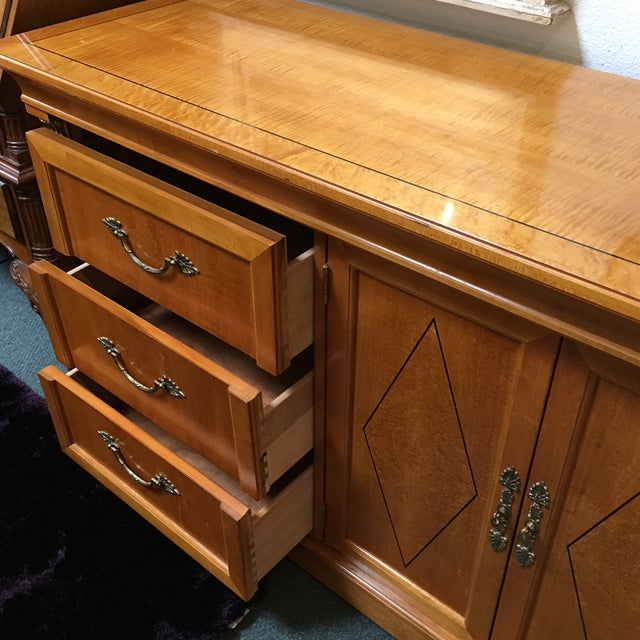 Thomasville Thomasville Neoclassical Wood Credenza For Sale - Image 4 of 11