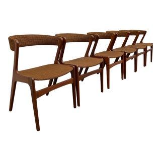 Danish Modern Kai Kristiansen Dining Chairs- Set of 6 For Sale