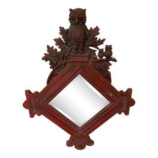 Vintage Frame Owl Mirror For Sale