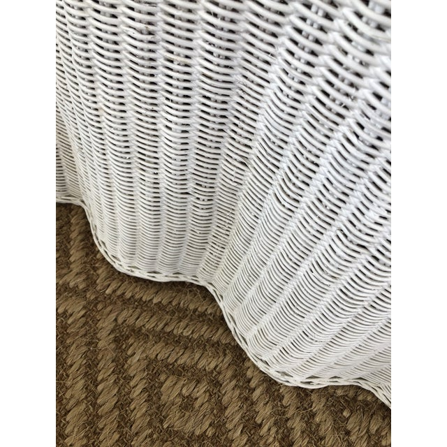 Vintage White Wicker Ghost Trompe L' Oeil Console For Sale - Image 12 of 13