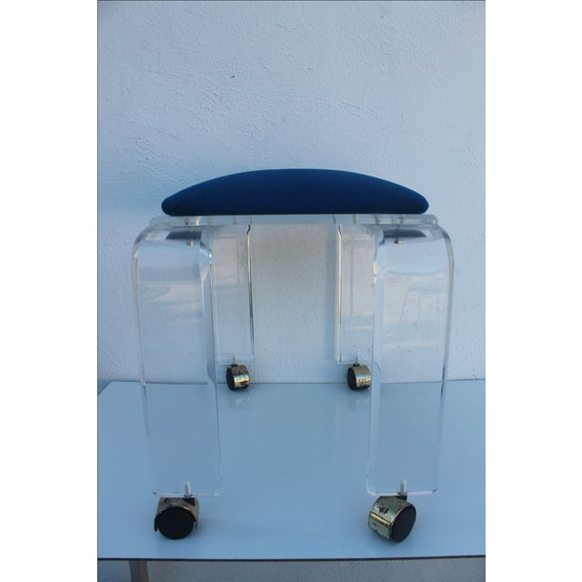 Vintage Lucite Vanity Stool For Sale In Miami - Image 6 of 9