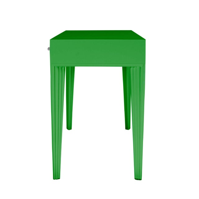 Not Yet Made - Made To Order Barcelona Desk - Bright Green For Sale - Image 5 of 6