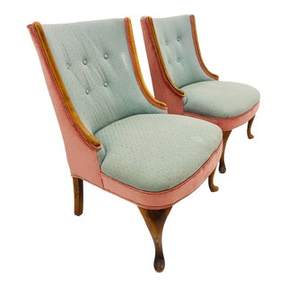 Pair Vintage Slipper Chairs For Sale