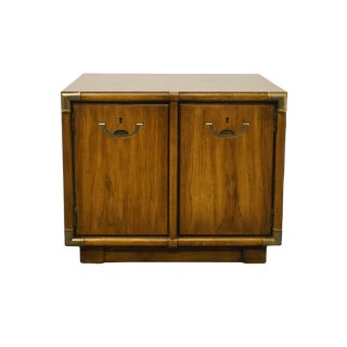 "Drexel Heritage Accolade Collection Square 26"" Campaign Style Cabinet For Sale"