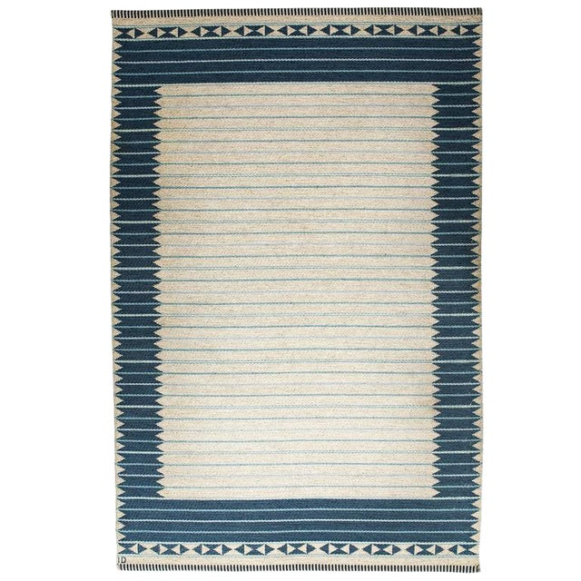 Vintage Ingrid Dessau Flat-Weave Swedish Carpet For Sale
