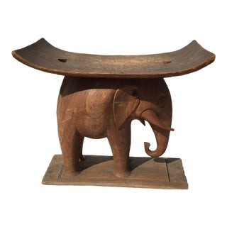 1940s Elephant Stool For Sale