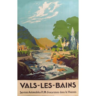 1930s French Art Deco Travel Poster, Val Les Bains For Sale