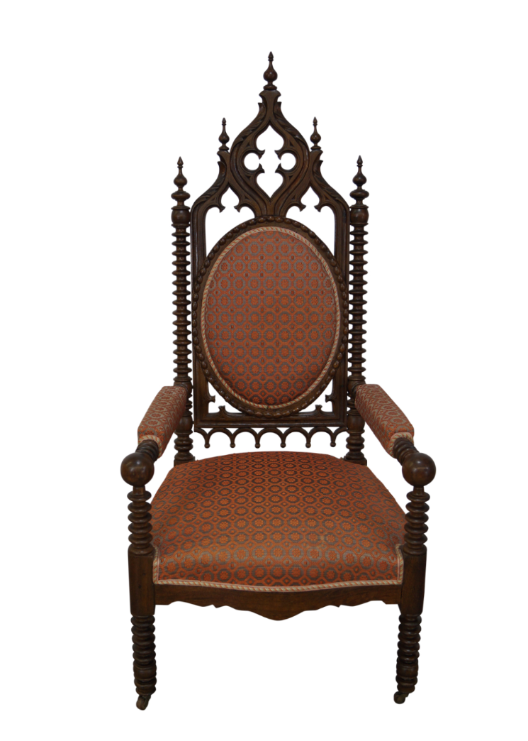 Antique 19th Century Walnut Gothic Throne Chair  sc 1 st  Chairish & Antique 19th Century Walnut Gothic Throne Chair | Chairish