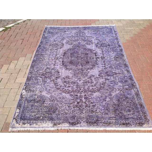 Over-Dyed Turkish Rug - 5′1″ × 8′1″ - Image 2 of 7