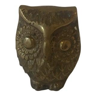 Brass Owl Figurine For Sale