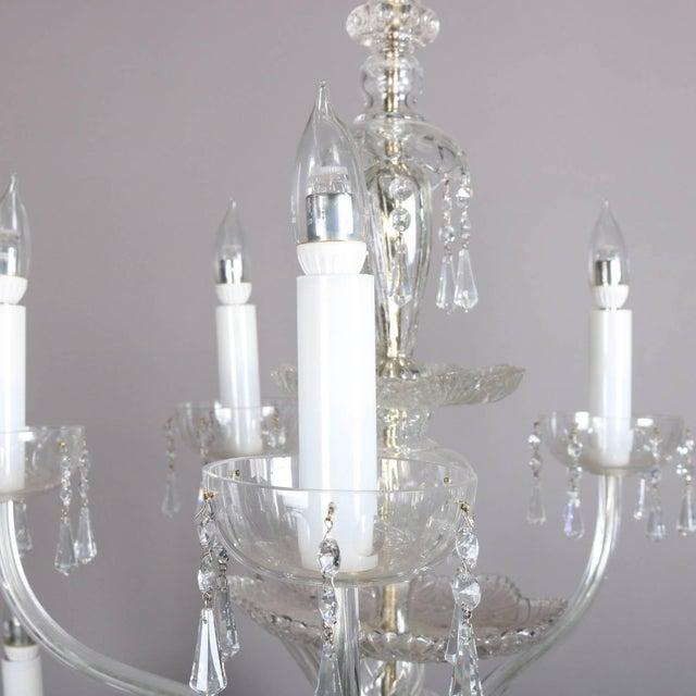 Oversized European Ten-Light Crystal Chandelier, 20th Century For Sale - Image 4 of 11