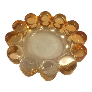 Mid-Century Knob Glass Ashtray