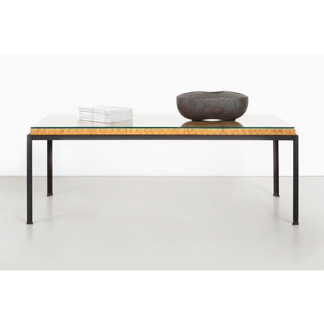 Danny Ho Fong Hand-Woven Reed Dining Table For Sale - Image 10 of 11