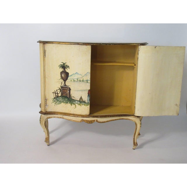 Italian 1960s Italian Painted Classical Cabinet For Sale - Image 3 of 9