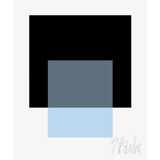 """""""The Interaction of Black and Powder Blue"""" Fine Art Print 11"""" X 14"""" by Liz Roache For Sale"""