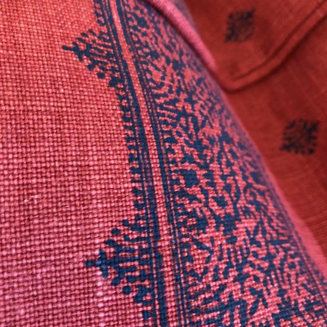 "Boho Chic Linen Stripe 22"" Pillows - A Pair - Image 5 of 7"