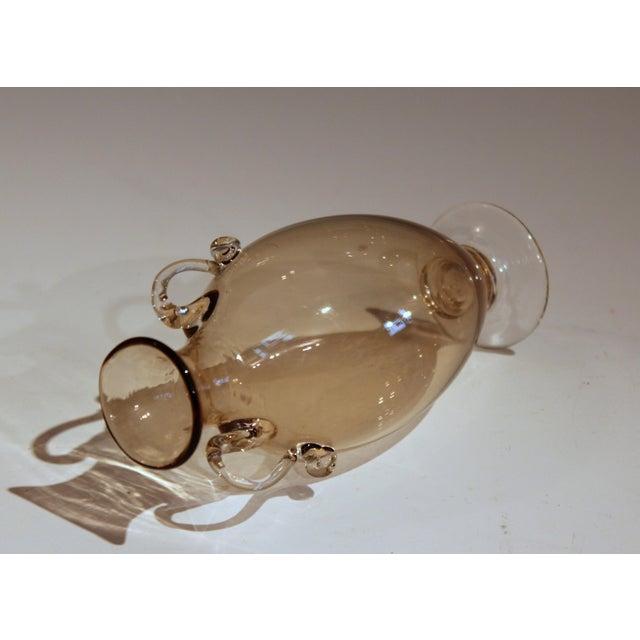 Murano, Venini & Co. 1920s Vittorio Zecchin for Cappellin & Venini Murano Glass Vase For Sale - Image 4 of 11