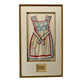 1860 Flag Apron Dress Hand Sewn For Sale
