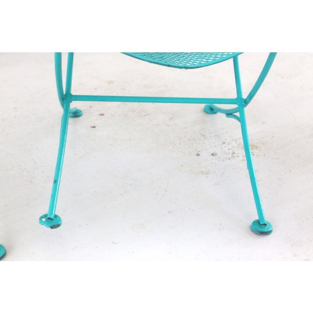 1960s Salterini Turquoise Clam Chairs - a Pair For Sale - Image 11 of 13