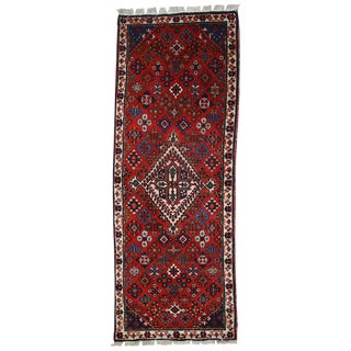 1970s Handmade Vintage Persian Sarouk Rug - 1′10″ × 5′2″ For Sale