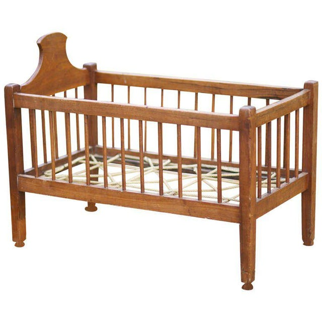 American Infant or Doll Cherry Crib - Image 6 of 6