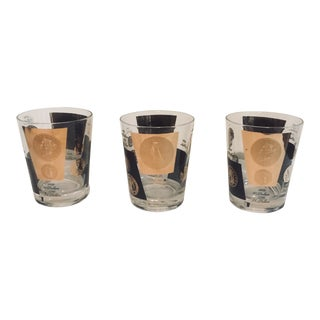 Vintage Double Old Fashioned Glasses - Set of 3 For Sale