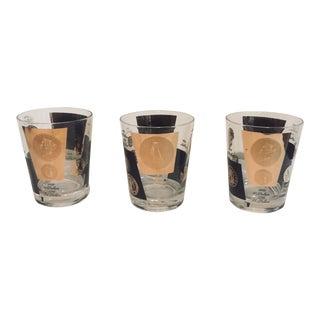 Vintage Mid Century Modern Glasses - Set of 3 For Sale