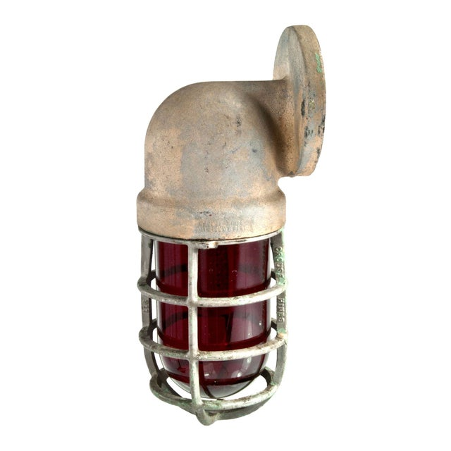 Crouse-Hinds Explosion Proof Factory Sconce - Red - Image 1 of 4