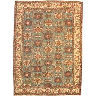 Pasargad Semi-Antique Persian Tabriz Lamb's Wool Rug - 7′8″ × 10′7″ For Sale