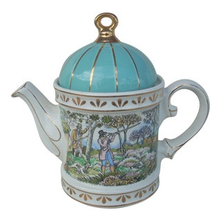 Sadler Shooting China Teapot