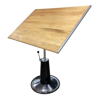 Early Mid-Century Modern Hydraulic Drafting Table by Mayline Co. For Sale