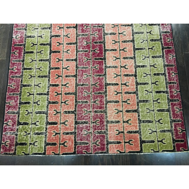 """Bellwether Rugs Two Zeki Muren Vintage Distressed Look Turkish Rugs - 3'5"""" X 6'10"""" - Image 4 of 8"""
