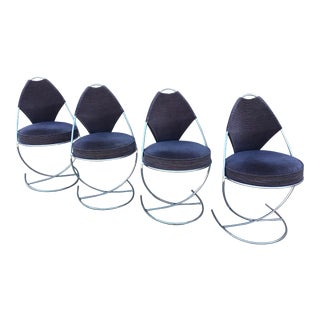 1960s Mid-Century Dahlen Mobler Ab Egg Shaped Dining Chairs - Set of 4 For Sale