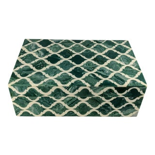 Moroccan Boho Decorative Box For Sale