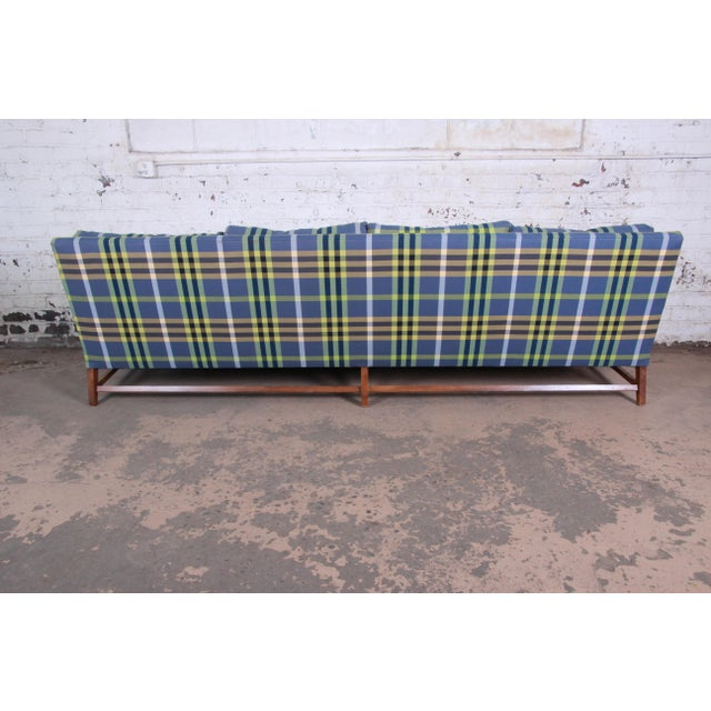 Textile A. Rudin Down Filled Two-Piece Sectional Sofa in Plaid Upholstery For Sale - Image 7 of 13
