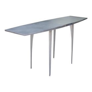 Aluminum Robert Josten Console Table For Sale