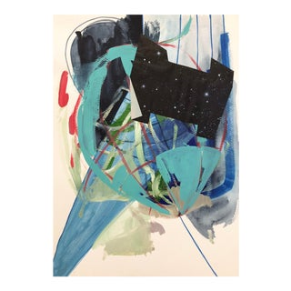 "Original ""Second Home Series (Orbit)"" Painting on Paper by Diana Delgado For Sale"