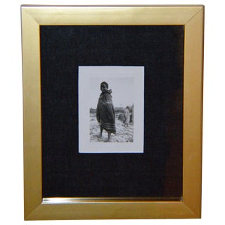 Vintage African Garbed Boy B&W Sepia Photograph For Sale