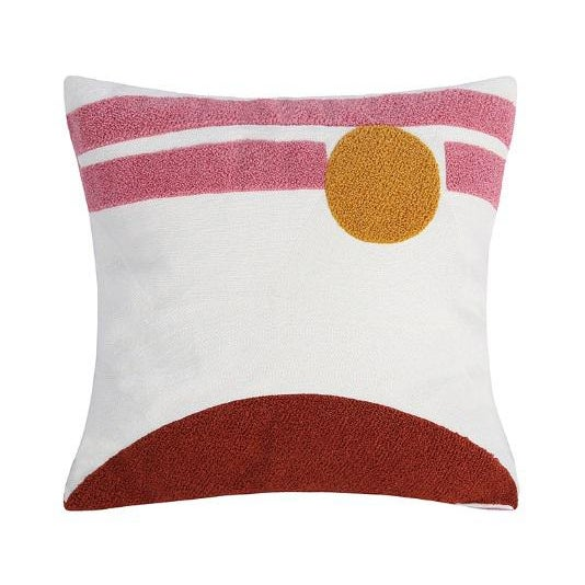 Crewel Embroidery Abstract Cushions & Throw Pillow Covers - # 04 For Sale - Image 4 of 4