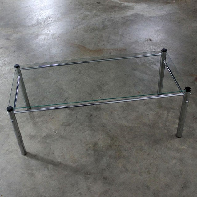 James David Furniture Attributed Chrome & Glass Coffee Table - Image 4 of 12