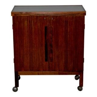 Danish Modern Rosewood Bar Cart by Torborn Afdal for Mellemstrands C.1960s For Sale