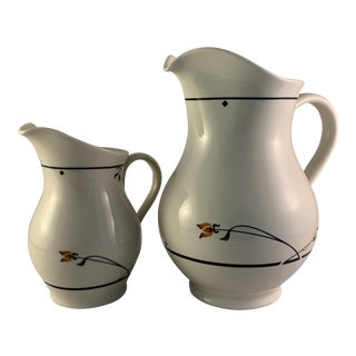 Vintage Gorham Ariana Pattern Pitcher and Creamer - Set of 2 For Sale