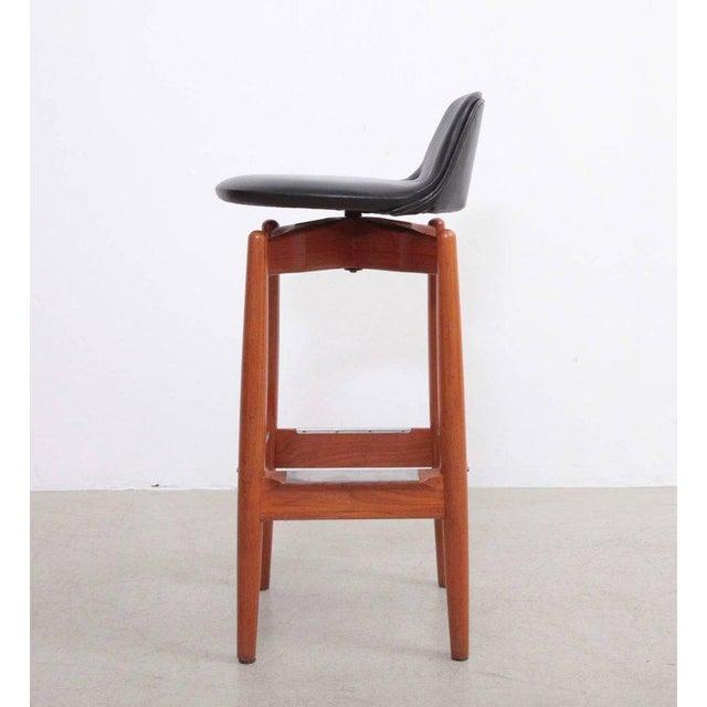 Sibast Furniture Pair of Arne Vodder Teak Bar Stools for Sibast Furniture For Sale - Image 4 of 9