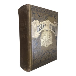 Late 19th C. Museum of Antiquity, a Description of Ancient Life - Decorative Book For Sale
